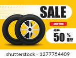 tire car sale banner. car... | Shutterstock .eps vector #1277754409
