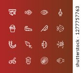 editable 16 fauna icons for web ... | Shutterstock .eps vector #1277757763