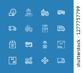 editable 16 deliver icons for... | Shutterstock .eps vector #1277757799