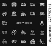 editable 22 lorry icons for web ... | Shutterstock .eps vector #1277757946