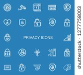 editable 22 privacy icons for... | Shutterstock .eps vector #1277758003
