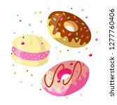 set of sweet cartoon chocolate... | Shutterstock .eps vector #1277760406