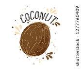 vector hand draw coconut... | Shutterstock .eps vector #1277760409