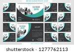 desk calendar 2019 template  ...   Shutterstock .eps vector #1277762113