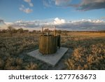 a simple bush toilet and shower ... | Shutterstock . vector #1277763673