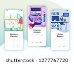 set of onboarding screens user... | Shutterstock .eps vector #1277767720
