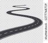 long winding road.... | Shutterstock .eps vector #1277768719