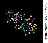 colorful stars confetti ... | Shutterstock .eps vector #1277775973