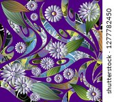 colorful floral 3d chamomiles... | Shutterstock .eps vector #1277782450