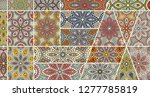 vector patchwork quilt pattern. ... | Shutterstock .eps vector #1277785819