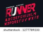 runner. modern font. futuristic ...   Shutterstock .eps vector #1277789233