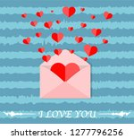 letter mail flying hearts from... | Shutterstock .eps vector #1277796256