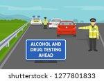 roadside drug testing. police... | Shutterstock .eps vector #1277801833