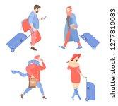 set of vector characters....   Shutterstock .eps vector #1277810083