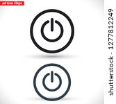 power off icon vector | Shutterstock .eps vector #1277812249