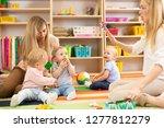 group of babies in nursery.... | Shutterstock . vector #1277812279