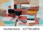 bright multi colored painting ... | Shutterstock . vector #1277813803