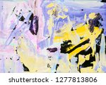 bright multi colored painting ... | Shutterstock . vector #1277813806