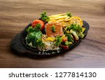 yummy sizzlers plates   sizzler ... | Shutterstock . vector #1277814130