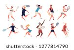 collection of men and women... | Shutterstock .eps vector #1277814790