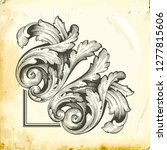 retro baroque decorations...   Shutterstock .eps vector #1277815606