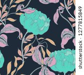 beautiful seamless floral... | Shutterstock . vector #1277815849