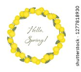 dandelions wreath on a white...   Shutterstock .eps vector #1277818930