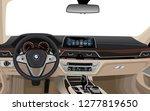 realistic luxury car interior   Shutterstock .eps vector #1277819650