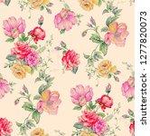 floral design print | Shutterstock . vector #1277820073