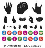 hand gesture black flat icons... | Shutterstock .eps vector #1277820193