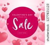 valentines day sale background... | Shutterstock .eps vector #1277821123