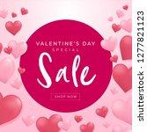 valentines day sale background... | Shutterstock .eps vector #1277821123
