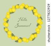 dandelions wreath on a green...   Shutterstock .eps vector #1277822929