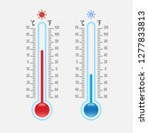 set mercury thermometers of... | Shutterstock .eps vector #1277833813