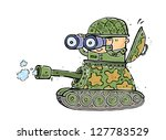 illustration of a battle tank... | Shutterstock .eps vector #127783529