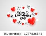 happy valentines day banner... | Shutterstock .eps vector #1277836846