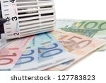 Thermostat With Euro Banknotes...