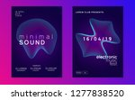 sound flyer. abstract... | Shutterstock .eps vector #1277838520