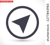 gps vector icon 10 eps | Shutterstock .eps vector #1277843983