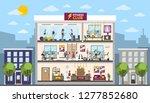 gym rooms interior in city... | Shutterstock . vector #1277852680