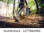 Hiker Woman With Trekking...