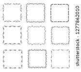 set of vector vintage frames... | Shutterstock .eps vector #1277862010