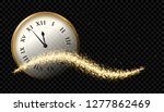 happy new year 2020 clock gold... | Shutterstock .eps vector #1277862469