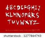 vector fonts   handwritten... | Shutterstock .eps vector #1277864743