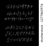 vector fonts   handwritten... | Shutterstock .eps vector #1277865976