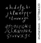 vector fonts   handwritten... | Shutterstock .eps vector #1277866120