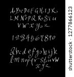 vector fonts   handwritten... | Shutterstock .eps vector #1277866123
