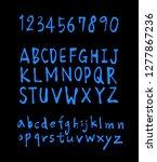 vector fonts   handwritten... | Shutterstock .eps vector #1277867236