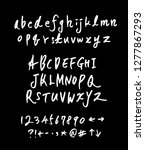vector fonts   handwritten... | Shutterstock .eps vector #1277867293