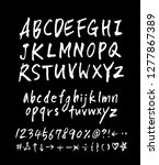 vector fonts   handwritten... | Shutterstock .eps vector #1277867389